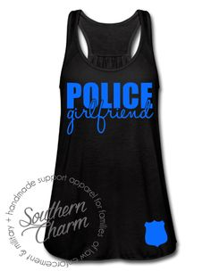 Southern Charm Designs - Police Girlfriend Badge Top, $29.00 (http://www.shopsoutherncharmdesigns.com/police-girlfriend-badge-top/)