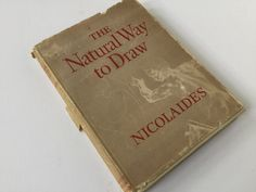 """1941 book """"The Natural Way to Draw"""" by Kimon Nicolaides by Hannahandhersisters on Etsy"""
