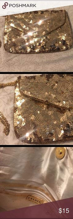 J. Renee GOLD Sequin Sparkle Vintage Crossbody Selling this gorgeous J. Renee Gold Vintage Crossbody bag. It is in great condition except for the inside (please review all pictures before purchase). It had a long strap that can also be tucked in to be warn as a clutch.  I purchased this bag at a vintage store for 5 times what I'm selling it for. J. renee Bags Crossbody Bags