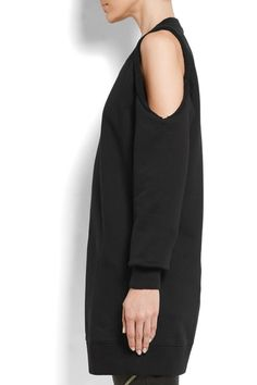 Givenchy - Cold-shoulder Embroidered Cotton-jersey Sweatshirt - Black - x small