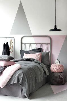 Bedroom Design: Gray, pink black #modern #bedroom design with a ...