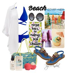 """""""The Cover Up"""" by andreajabueg on Polyvore featuring Improvements, Beauty & The Beach, Fivesse, Dolce&Gabbana, Olivine, Eos and coverups"""