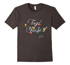 Mens Tag Touch Day T shirt - Tag! You're it! 2XL Asphalt