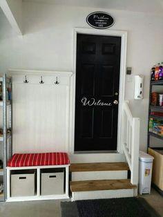 Is that antibacterial by the garage door? Brilliant!
