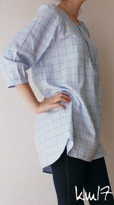 Wardrobe Refashion: With two men's shirt .... one tunic !