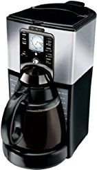 Christmas deals week Mr. Coffee Programable Coffeemaker 12 Cup Black With Brushed Stainless Steel Accents