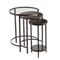 Home Etc Elimatta 3 Piece Nest of Tables