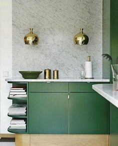 Modern Kitchen Design: Brass Faucets and Accents - Euro Style Home Blog - Modern Lighting - Design