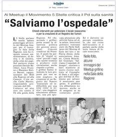 M5S Lazio ad anagni per salvare l'ospedale e creare il Registro tumori
