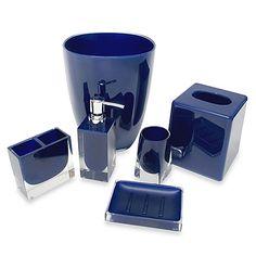 Memphis Bathroom Accessories in Nautical Blue