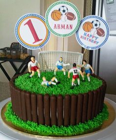 sweetartreats: birthday cake soccer theme