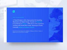 Portfolio Website by Chris Bramford #Design Popular #Dribbble #shots
