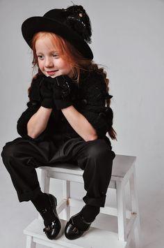 Kids Fashion. All Black. Black Outfit.Inspiration