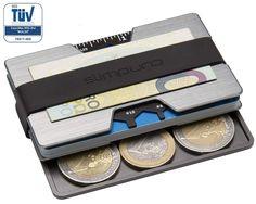 RFID Kreditkartenetui aus Aluminium mit Münzfach & Geldklammer - NFC Schutz - Metal Geldbörse/Portmonee für Minimalisten - Mini Kreditkartenetui EUR 24,90 Aluminium, Money Clip, Wallet, Women, Felting, Pocket Wallet, Women's, Purses, Money Clips
