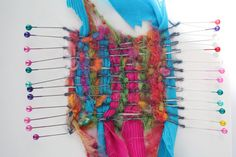 pinweaving images | Madeleine's colourful pin weaving