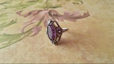 Silver ring with alexandrite stone