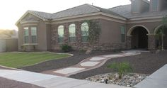 Arizona Living Landscape Design Tropical front yard