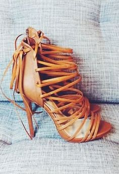 Love strappy lace up heels!
