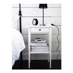 HEMNES Sivupöytä - valkoinen - IKEA