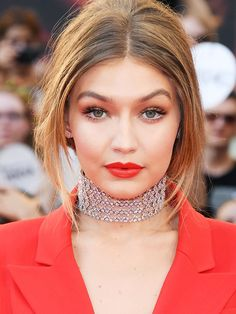The Secret to Gigi Hadid's Perfect Coral Pout Are These $8 Lipsticks | Byrdie.com | Bloglovin'