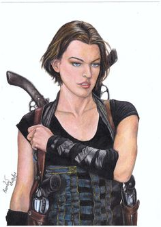 Alice from the Resident Evil