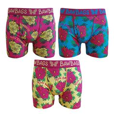 Bawbags Aloha 3 Pack Boxers