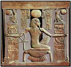 """grandegyptianmuseum: """" Back of a chair from the tomb of Tutankhamun BC) depicting the god Heh, spirit of the million years. Now in the Egyptian Museum, Cairo. Ancient Egyptian Art, Ancient Aliens, Ancient History, Egyptian Things, Egyptian Goddess, Objets Antiques, Egypt Museum, Pagan Gods, Art Antique"""