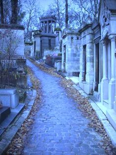 Pere Lachaise--largest cemetary in Paris!  It is beautiful!