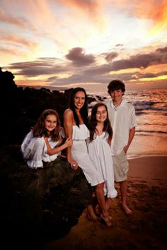 Beach Sunset Family Portrait! This one was taken in Maui, but any beach at sunset will do! http://hudsonportraits.com/families.html