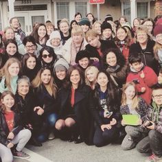 Awesome Lana my awesome Once friend Emily Sesto and loads of awesome Once fans lots of whom I'm friends with #Once #BTS #StevestonVillage #Richmond BC #Canada Spring 2016