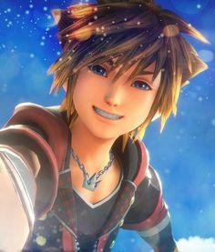 He's so darn cute when he smiles! Kingdom Hearts Ii, Kingdom Hearts Fanart, Sora Kh3, Sora And Kairi, Kh 3, Final Fantasy 3, Kindom Hearts, Pokemon, Vanitas