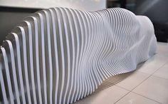 Sculptural Reception Desk For Cypriot Furniture Brand: