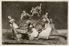"Francisco de Goya: ""Disparate femenino"". Serie ""Disparates"". Etching, aquatint and drypoint on paper, 243 x 358 mm, 1815-1819. Museo Nacional de Prado, Madrid, Spain"