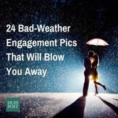 24 Couples Who Didn't Let Bad Weather Ruin Their Engagement Photos - http://www.77evenbusiness.com/24-couples-who-didnt-let-bad-weather-ruin-their-engagement-photos/