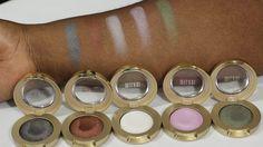 Milani Cosmetics Gel Powder Eyeshadow Swatches.