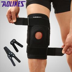 7a3acb5ff4 HOT PRICES FROM ALI - Buy Knee Brace with Polycentric Hinges Professional  Sports Safety Knee Support Black Knee Pad Guard Protector Strap joelheira