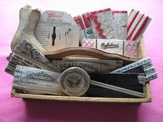 antique trimmings and ribbons