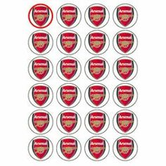 Arsenal Crest style 24 Edible Wafer Paper Fairy/Cup Cake Toppers on an A4 sheet - Birthday Cake and Party Idea - Cake Toppers  - http://irishcakesupplies.com/wp-content/uploads/2013/12/41Zc0bfDIyL.jpg - #24, #A4, #An, #Arsenal, #Cake, #Crest, #EDIBLE, #FairyCup, #On, #Paper, #Sheet, #Style, #Toppers, #Wafer  - http://wp.me/p2Sdif-4wh