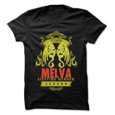 (New Tshirt Design) Team MELVA 999 Cool Name Shirt Teeshirt this month Hoodies, Funny Tee Shirts