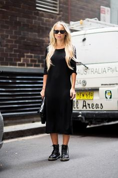 Vestido + coturno =