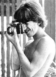 George taking photos in Barbados during his & Pattie's honeymoon there