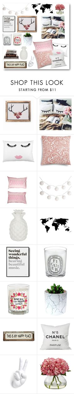 """""""bedroom decor under $500!"""" by itgirlcarlota ❤ liked on Polyvore featuring interior, interiors, interior design, home, home decor, interior decorating, Becci Maryanne, Charter Club, Pier 1 Imports and Brika"""