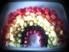 A rainbow fruit platter