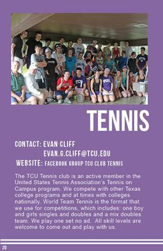 Tennis Tennis Clubs, Sports Clubs, Tennis Association, United States, College, University, Colleges, Community College