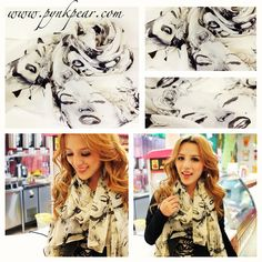 Marilyn Monroe Scarf. Every girl needs one in her closet! www.pynkpear.com     Like our facebook page! www.facebook.com/pynkpear