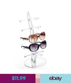 Eyeglass Cases Eyeglass Sunglasses Storage Display Stand Holder Organizer Case For 5 Glasses #ebay #Fashion