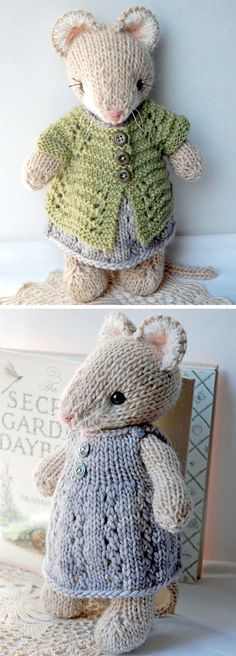 Cute Knitted Mouse - Knitting Pattern - knitting is as easy as 3 That . Cute Knitted Mouse – Knitting Pattern – knitting is as easy as 3 Knitting boils down to t How To Start Knitting, Knitting For Beginners, Animal Knitting Patterns, Crochet Patterns, Knitted Doll Patterns, Knit Or Crochet, Free Crochet, Crochet Toys, Simple Crochet