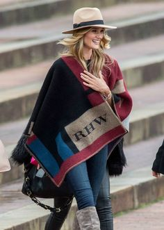 the Burberry monogrammed blanket/wrap is everything