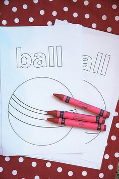 'Let's Have a Ball' Coloring Page