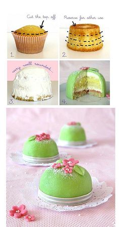 interesting way to decorate a cupcake..... just picture, no recipe or blog link